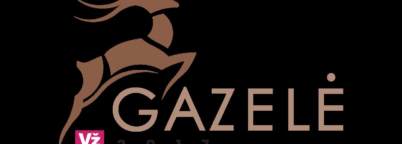 Gazele spalvotas logotipas